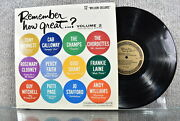 Various Artists Remember How Great... Volume 2 Columbia Record Lp 1962