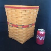 Longaberger Waste Basket And Protector Nfl Giants Patriots Texans Colors New