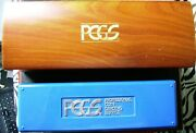 Pcgs Wood Storage Box By Guardhouse + Pcgs Blue Storage Box Each Holds 20 Slabs