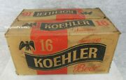 Vintage Koehler 16 Beer Erie Brewing Co Bottle Can Flip Top Shipping Carry Box