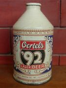 Estate Fresh Oertels And03992 Lager Beer 12 Oz Crowntainer Cone Top Beer Can -- Bb