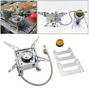 3500w Stainless Iron Camping Gas Stove Hiking Burner Cooking Grill Mapp Tank