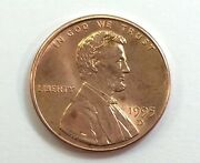 Error Coin 1995 D United States One Penny Close Am Anddouble Die On Reverse