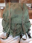 Vintage Us Army Field Pack Combat Nylon Large Green Backpack With Frame