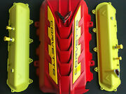 2020 Corvette C8 Engine Cover / Valve Covers Accelerate And Torch Red