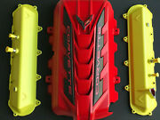 2020 Corvette C8 Engine Cover And Valve Covers New O.e.m. Accelerate Torch Red
