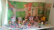 Lot Of Fisher Price Mattel Loving Family Dollhouse Sweet Street People And Pets