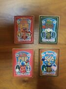 Wdi Toy Story Mania Poster Pin Set Of 4 Lot Limited Edition Of 300 Rare