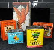 Vintage American 3 Vees Turtle Food Advertising Tin Can Great Graphics