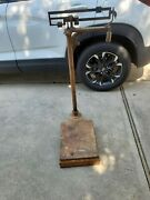 Antique Jones Of Binghamton Doctor/physician Office Scale Cast Iron And Brass
