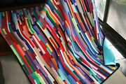 Hand Made Quilt Coloured Strippy Design By Quilt-addicts 72 X 63