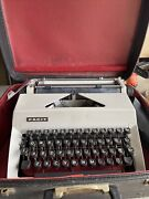 Vtg Facit Portable Typewriter + Carrying Case For Parts / Repair Sweden 1960and039s
