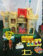 Vintage Fisher-price Play Family Castle 993 Complete