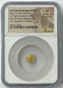 Philip Ii 359-336 Bc Gold 1/8th Stater Ngc Vf Lifetime Issue Rare Fractional