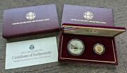 1988 Us Mint Olympic Coins Proof Set Silver Dollar 5 Dollar Gold Coin Box + Coa