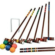 Intermediate Croquet Set 2-6 Players Portable Carry Bag Storage Family And Friends