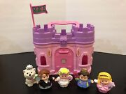 Fisher Price Little People Play And Go Castle King Queen Bride Groom Dog 2009
