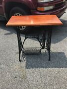 Vintage Table Top Repurposed Singer Sewing Machine Base Country Decor Antique