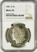 1881 O/o Morgan Dollar Ngc Ms61pl W/ Dmpl Obv. Better Date Spiked 8 Vam 2a