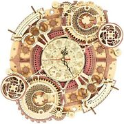 3d Wooden Puzzle Zodiac Wall Clock Model Kit For A Diy Mechanical Clock Building