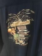 Tommy Bahama Embroidered Silk Shirt Xxl Clearance