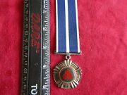 South African Military Pro Merito Medal Full Size And Miniature - Silver
