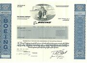 Rare Boeing Common Stock Certificate 156 Shares March 2000 Unsigned