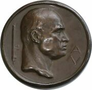 Johnson Medal. National Fascist Party. Labor Card. By - Castiglioni. 120mm