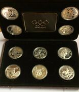 1996 Olympic Centennial Sterling Silver Coin Set - 10 Silver Proof Coins