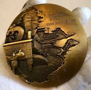 2012 China 80mm Brass Medal - World Heritage - Yin Dynasty Ruins