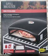 Grill Meister Bbq Pizza Box Oven Gas And Charcoal With Cordierite Stone Barbecue