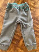 L.l. Bean Toddler 2t Mountain Fleece Pants Gray W Teal Barely Worn Current Item