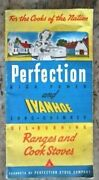 Vtg. Perfection-ivanhoe Oil Burning Ranges And Cook Stove Booklet Ashland Ri - E7h