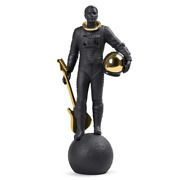 Lladro Walking On The Moon Figurine Black And Gold 01009409