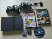 Sony Playstation2 Ps2 Slim Bundle2controllersmemory Cardsneed For Speed70012