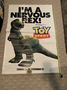 Toy Story 48x70 Vinyl Movie Banner Double Sided Rex And Mr. Potato Head Huge
