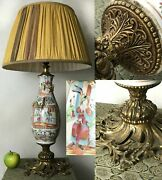 A 19th Century Canton Famille Rose Vase Mounted As An Ormolu Style Lamp