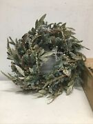 Balsam Hill Nicole Miller Crystal Champagne Wreaths Prelit 28-open Box Gorgeous