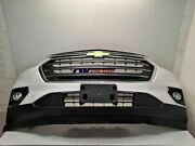 18-19 Chevy Traverse Oem Front Bumper Assembly Painted White Chrome Black Grille