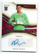 Nick Pope 2020 Immaculate Celebration Signatures Autograph Rc /25 Burnley Rare