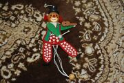 Old Wooden String Puppet Clown Playing Violin Levi Italy Südtirol 1831