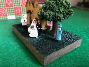 Farm Country Village Stone Figurine Ornament Boxed Bride Groom Just Wed Eb1360