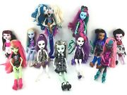 Monster High Doll Lot Of 11 Dolls Frankie Stein, Catty Noir, Draculaura And Others