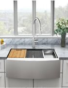 Glacier Bay All-in-one Apron-front Farmhouse Stainless Steel 30 1-bowl Sink