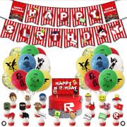 Roblox Party Supplies Roblox Birthday Party Decorations