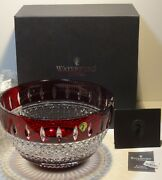 Waterford Crystal Irish Lace 10 Bowl Ruby Red  In Original Box