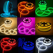 5m/100m Flexible Led Neon Rope Light Strip In/outdoor Home Commercial Lighting
