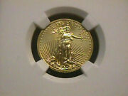 2016 1/4 Ounce American Gold Eagle Ngc Ms70 10 Gold Oz Coin