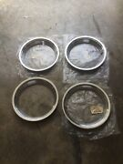 Nos 1968 1969 Ford Mustang Mach 1 14 Styled Steel Trim Rings C8zz-1210-b 4
