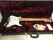 History Gh-sv/m Blk 2011 6 Strings Dot Inlays Black Electric Guitar W/ Hard Case